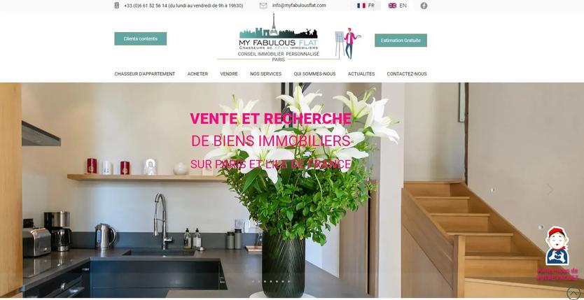 création de site internet pour chasseur d'appartement