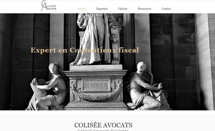 création de site internet pour avocat fiscaliste