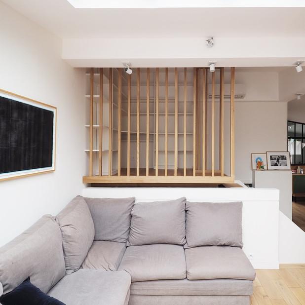 Conception d'une mezzanine et de mobilier sur-mesure duplex, Paris 18e