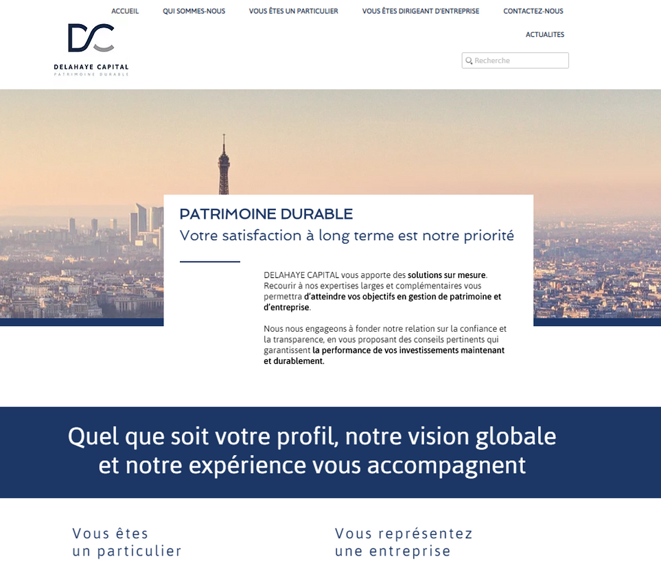 Site DELAHAYE Capital