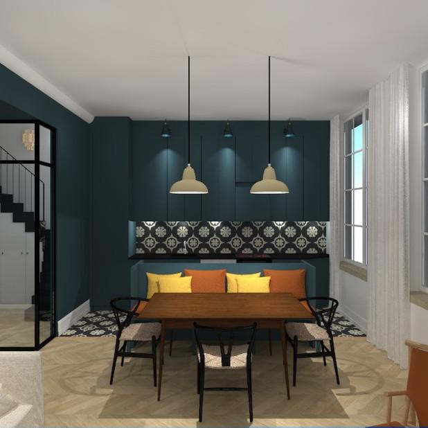 Rénovation, aménagement intérieur sur-mesure et ameublement Appartement Antibes (83)