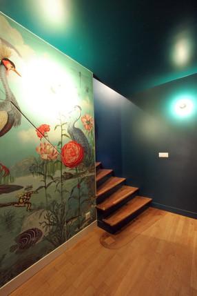 escaliers papier peint