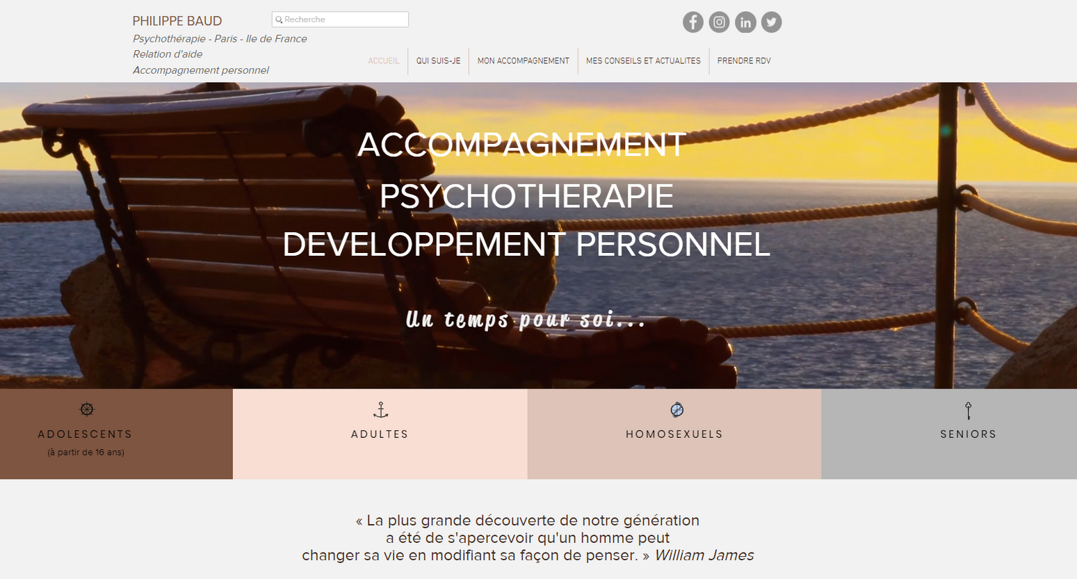 Création site internet Psychologue