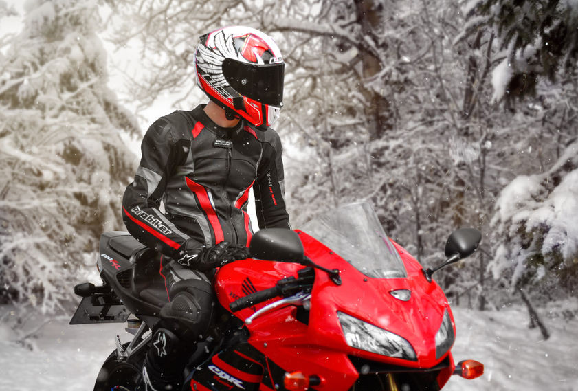 rouler en moto l'hiver