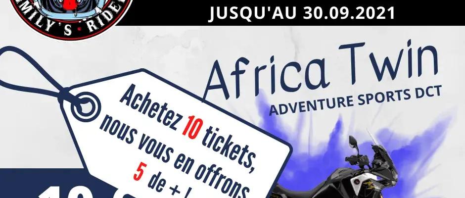 Pack Tickets Jeu-concours Africa Twin : 15 pour le prix de 10