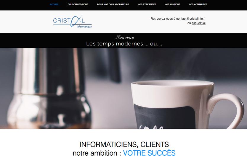 Création site internet Informatique