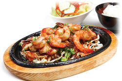 SHRIMP AND CHICKEN TERIYAKI