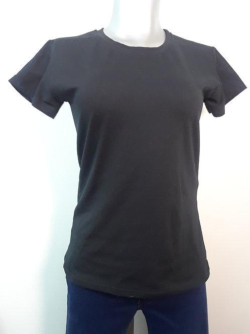 Camiseta manga corta estampada con alas atrás para mujer