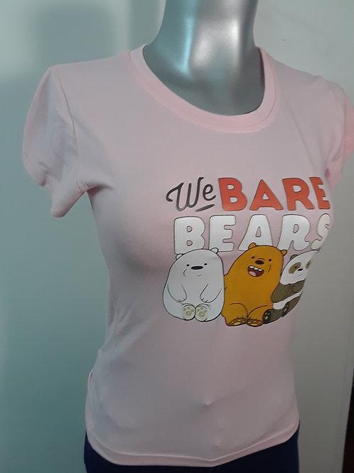 Camiseta manga corta estampada para mujer  (Bears)