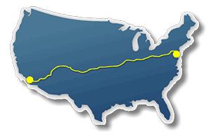 Race Across America map
