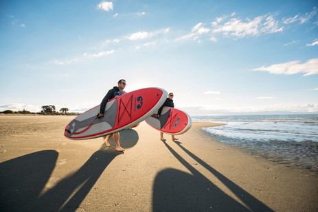 Paddleboards at Nelson's Tahunanui Beach