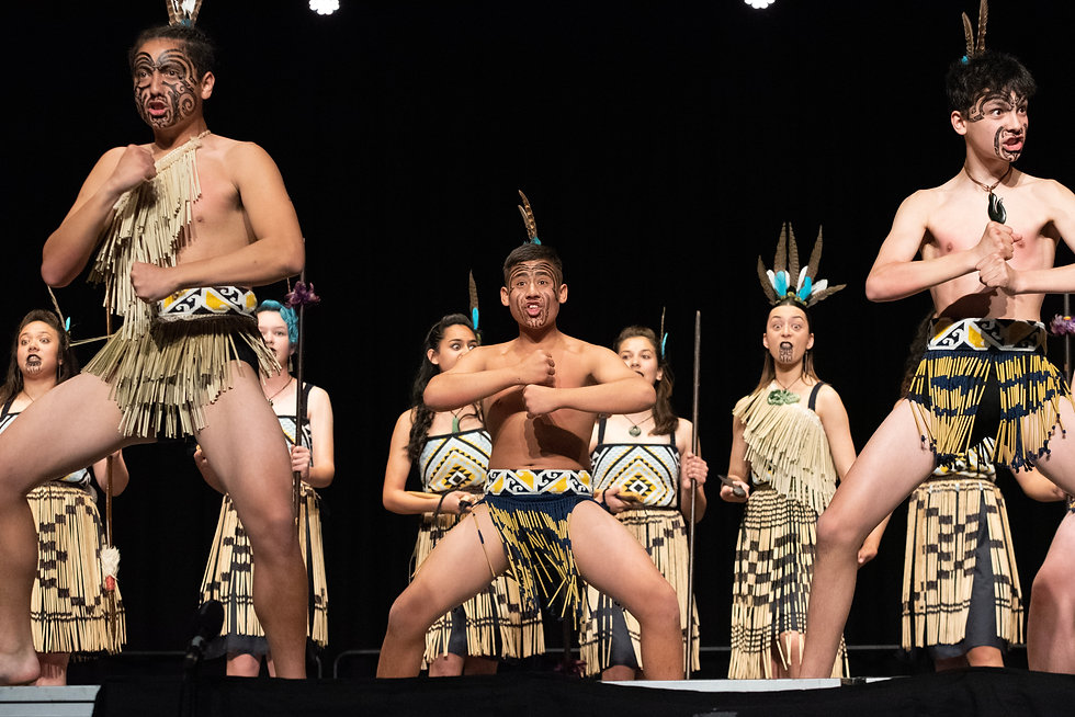 Students from the Marlborough Boys' and Girls' Colleges' combined kapa haka group