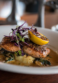 Flames on Forty's delicious Tuscan Salmon.
