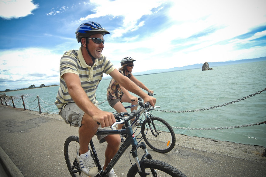 Cyclists on Rocks Road in Front of Fifeshire Rock.jpg