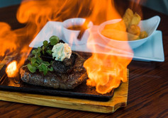 Feast your eyes on Flames on Forty's Flaming 400g Flintstone on the Bone.