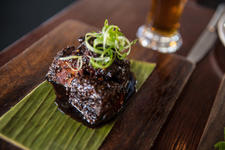 Chilli Caramel Pork Belly at The Hotel Nelson's Flames on Forty Restaurant