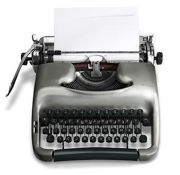 The Intrepid typewriter logo
