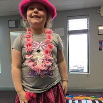 Addison playing dress up