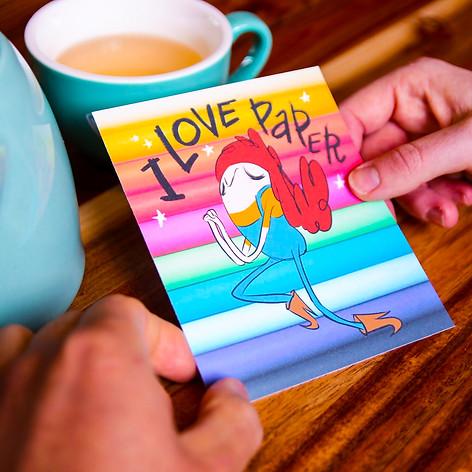I love Paper Postcard
