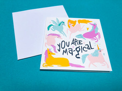 You are Ma-gical square card