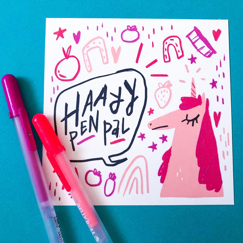 Hay Pen Pal postcard