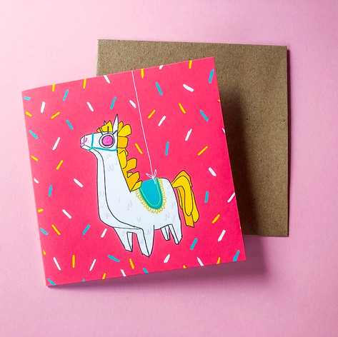 Pinata Party Mini Card
