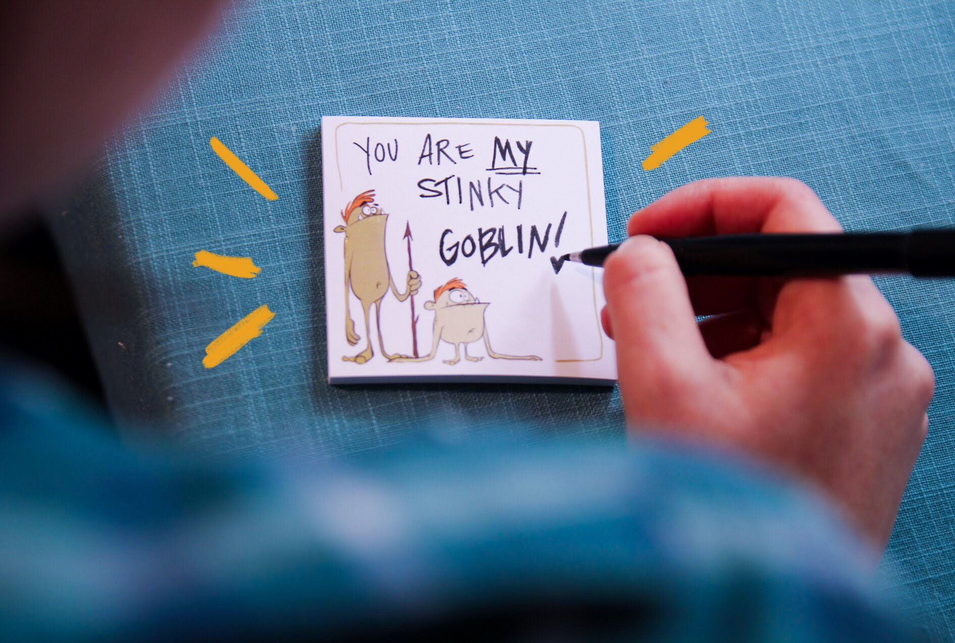 Goblin Post-it notes
