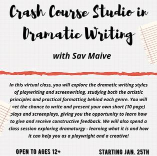 Crash Course Studio in Dramatic Writing