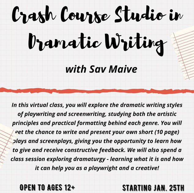 Crash Course Studio in Dramatic Writing