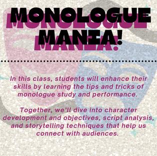 Monologue Mania