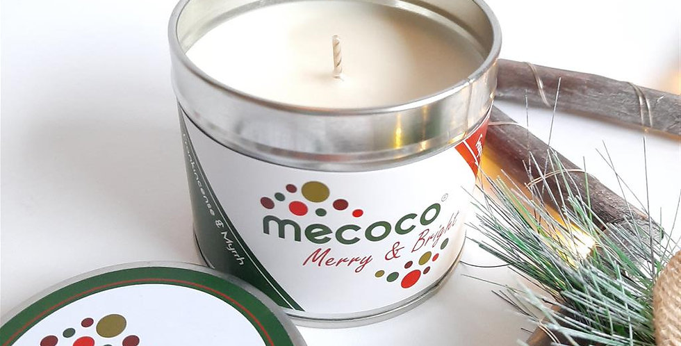 Merry & Bright : large tin