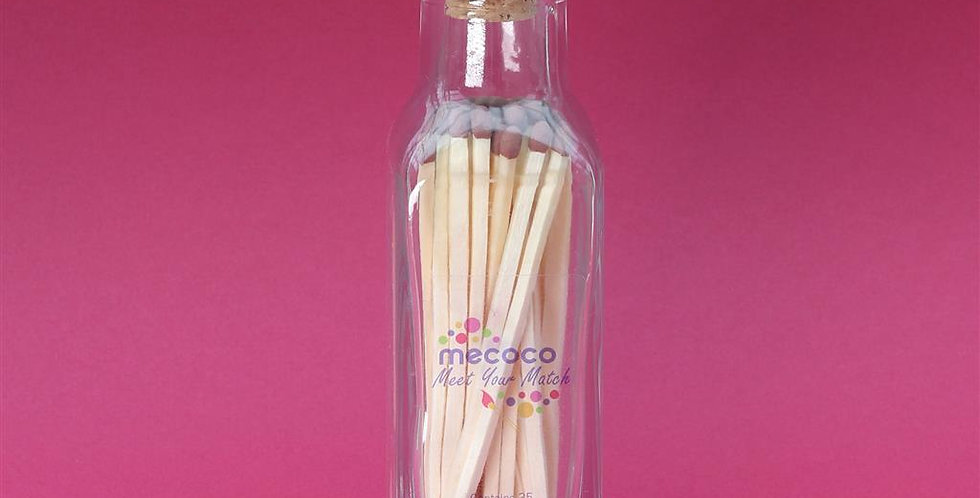 Bottle of extra-long matches