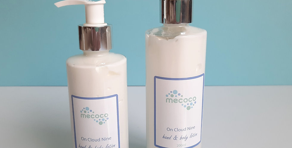 On Cloud Nine : hand and body lotion