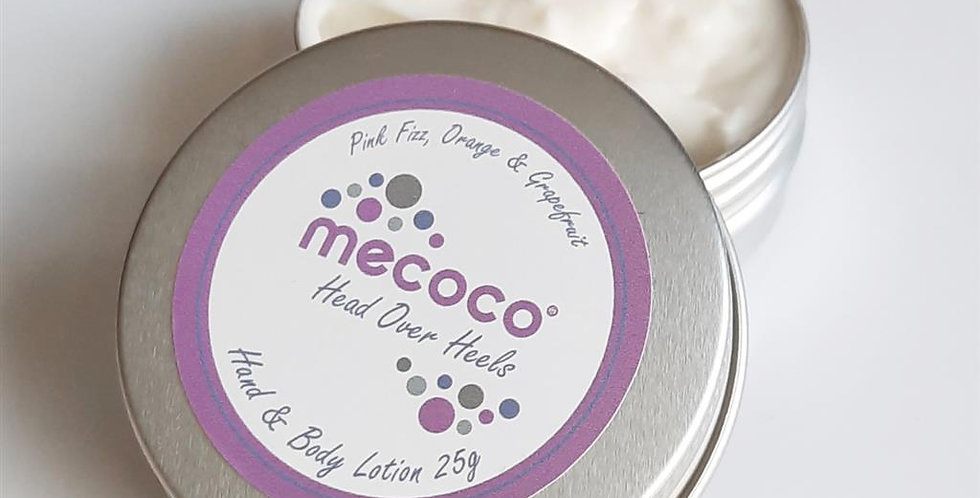 Head over Heels : hand and body lotion Travel tin
