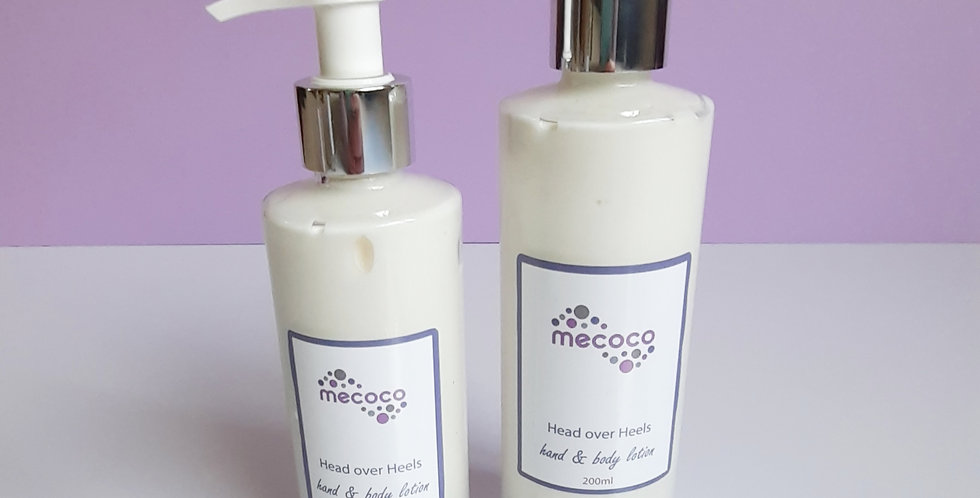 Head over Heels : hand and body lotion