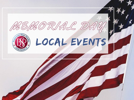 MEMORIAL DAY Local Events!