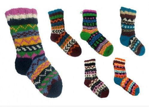 Unisex Sherpa Lined Long Wool Socks AS972