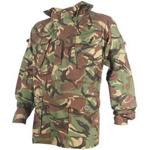 Woodland Camo Hooded Smock, soldier 95 style ripstop.