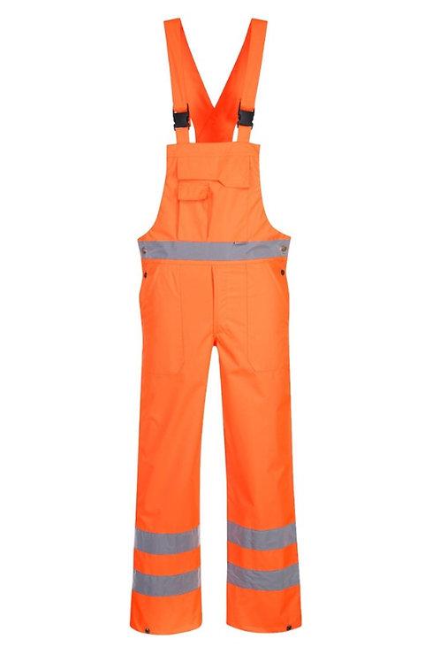 Orange Hi Vis Waterproof Bib & Brace