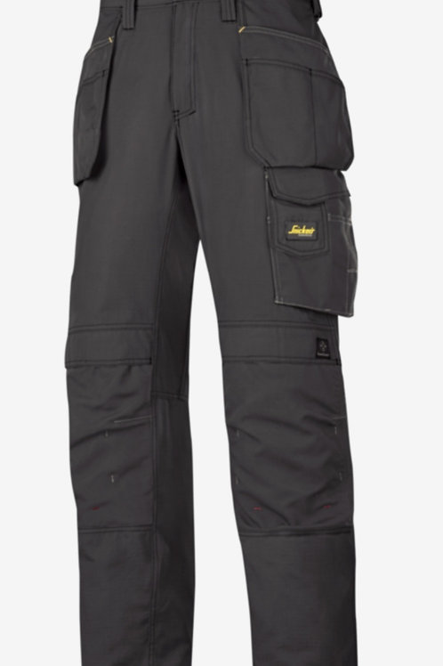 Snickers Craftsman Ripstop Trousers with Holster Pockets Black