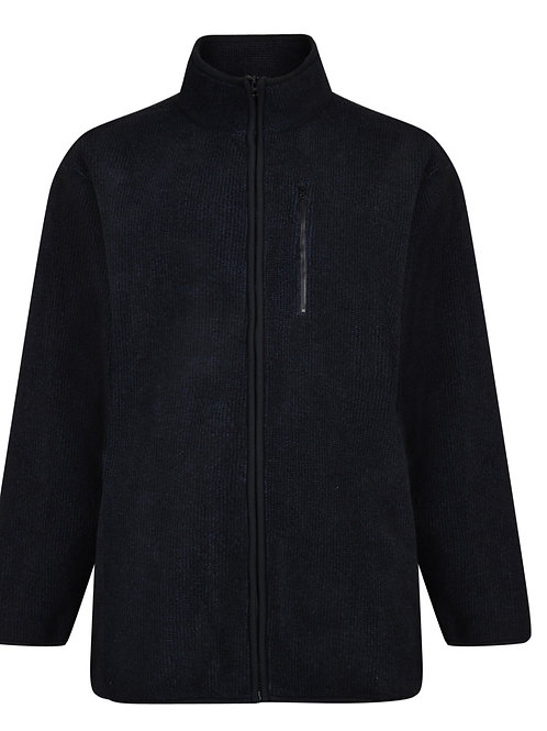 Sherpa Bonded Fleece Black/Navy Jacket