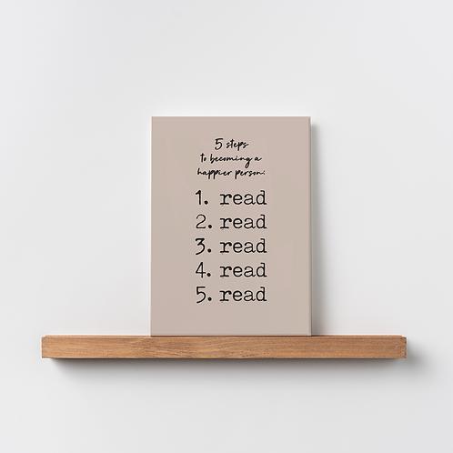 Karte 'read read read'
