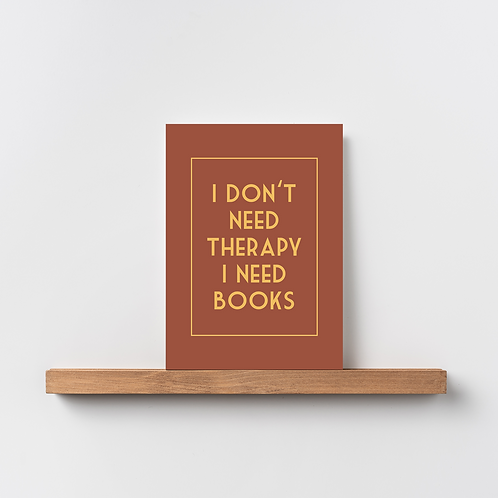 Karte 'I don't need therapy'