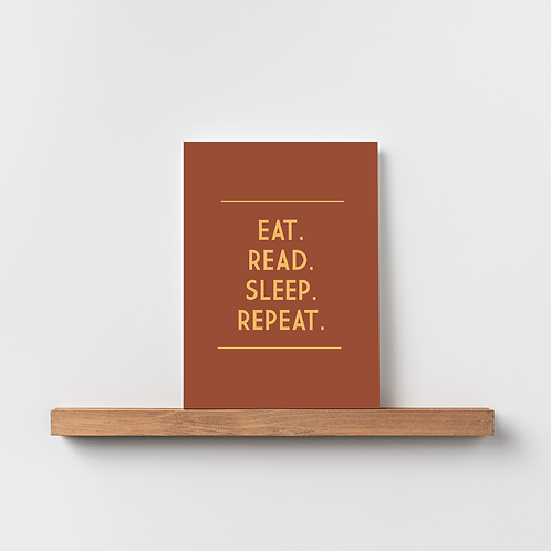 Karte 'Eat. Read. Sleep. Repeat.'