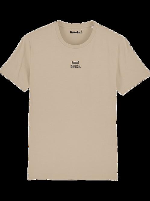 B-Ware // T-Shirt 'Buch auf. Realität ciao.'