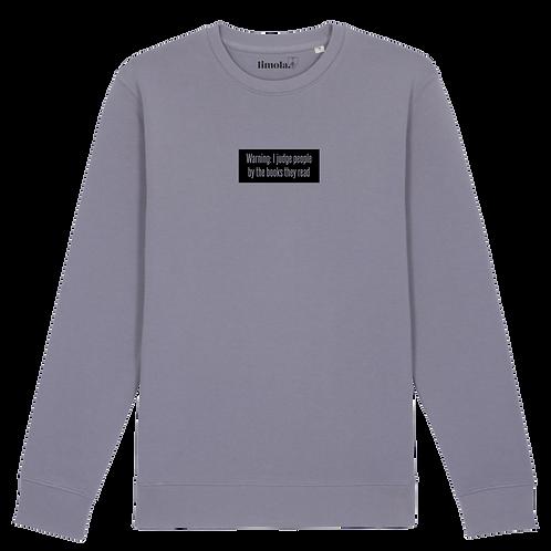 B-Ware // Sweatshirt 'Warning I judge people...'