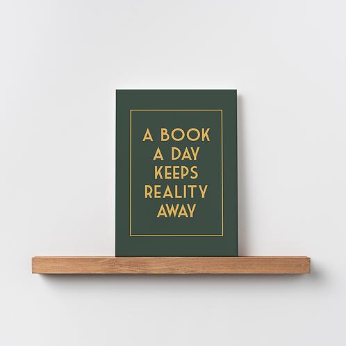 Karte 'a book a day'