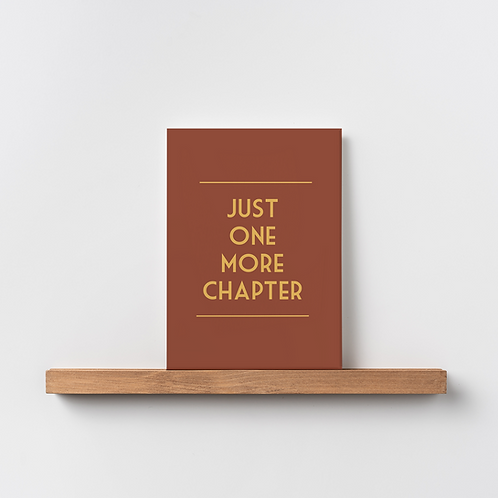 Karte 'just one more chapter'