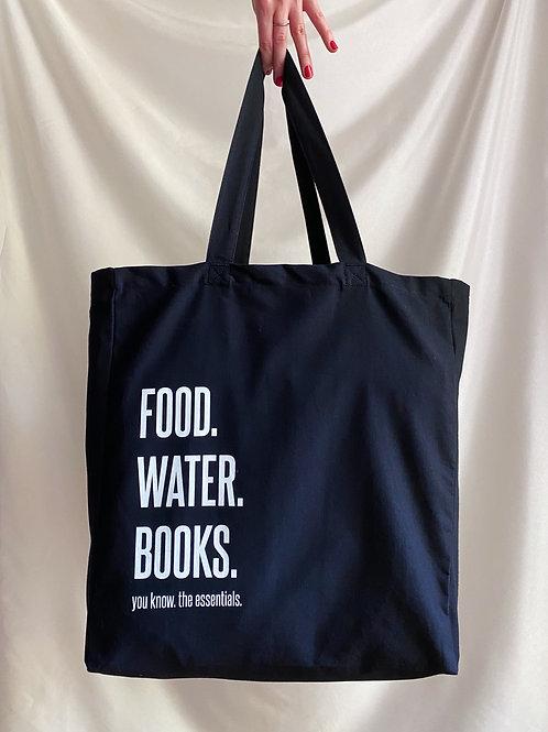 Tasche // Shopper 'FOOD. WATER. BOOKS.'