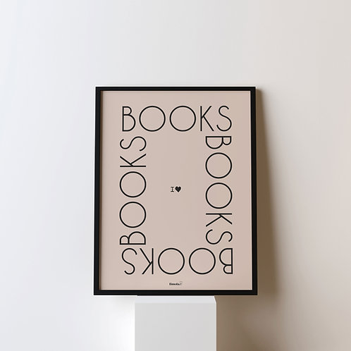 Poster 'I love books'